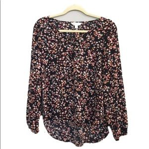 Decree Long Sleeve Floral Polyester Blouse